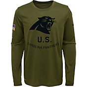 Nike Youth Salute to Service Carolina Panthers Legend Long Sleeve Olive Shirt