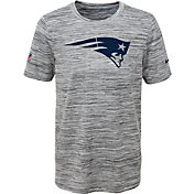 Nike Youth New England Patriots Dri-FIT Legend Velocity Grey Performance T-Shirt