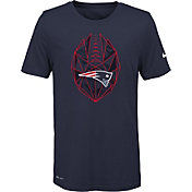 Nike Youth New England Patriots Icon Performance Navy T-Shirt