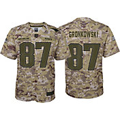 Nike Youth Salute to Service New England Patriots Rob Gronkowski #87 Camouflage Game Jersey