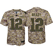 Nike Youth Salute to Service New England Patriots Tom Brady #12 Camouflage Game Jersey