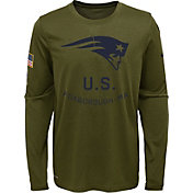 Nike Youth Salute to Service New England Patriots Legend Long Sleeve Olive Shirt