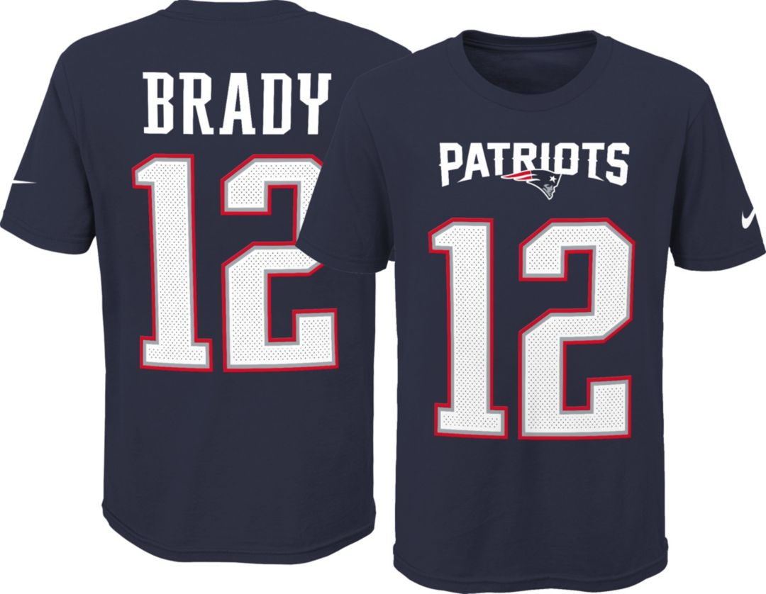 buy popular 7af27 23fe6 Nike Youth New England Patriots Tom Brady #12 Pride Navy T-Shirt