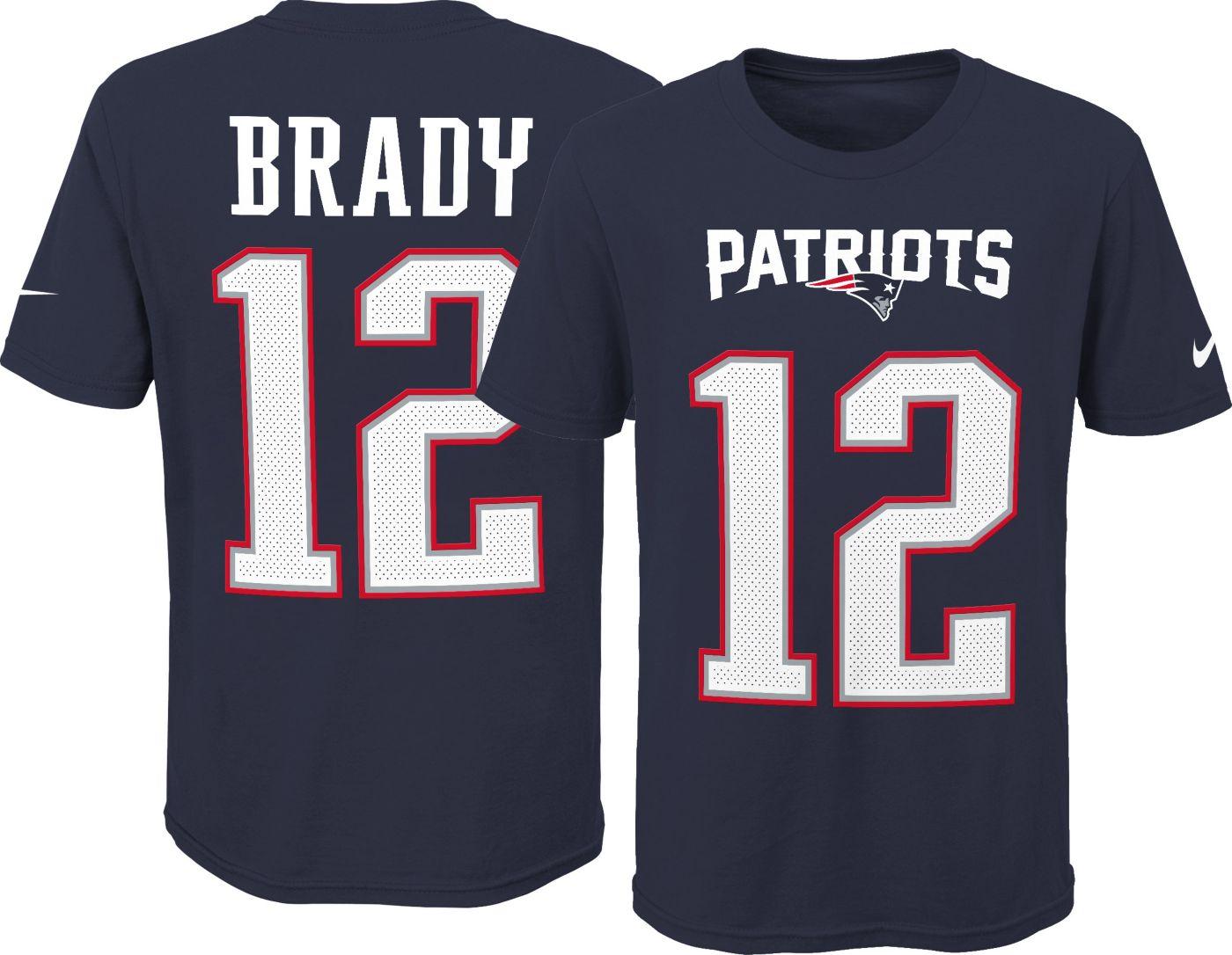 Nike Youth New England Patriots Tom Brady #12 Pride Navy T-Shirt