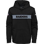 Nike Youth Oakland Raiders Sideline Therma-FIT Black Pullover Hoodie
