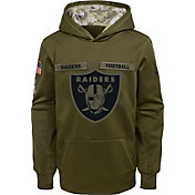 Nike Youth Salute to Service Oakland Raiders Therma-FIT Olive Performance Hoodie