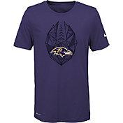 Nike Youth Baltimore Ravens Icon Performance Purple T-Shirt