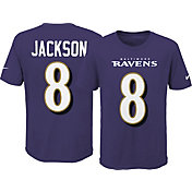 Nike Youth Baltimore Ravens Lamar Jackson #8 Wordmark Black T-Shirt