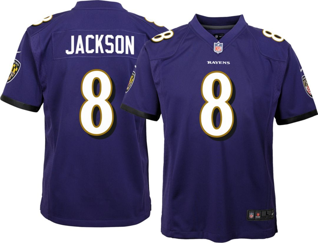 cheap for discount 6ed44 2ffb0 Lamar Jackson #8 Nike Youth Baltimore Ravens Home Game Jersey