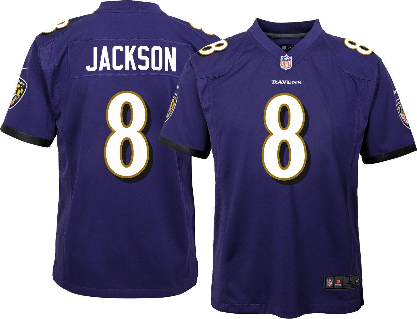Lamar Jackson #8 Nike Youth Baltimore Ravens Home Game Jersey
