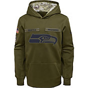 Nike Youth Salute to Service Seattle Seahawks Therma-FIT Olive Performance Hoodie