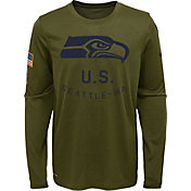 Nike Youth Salute to Service Seattle Seahawks Legend Long Sleeve Olive Shirt