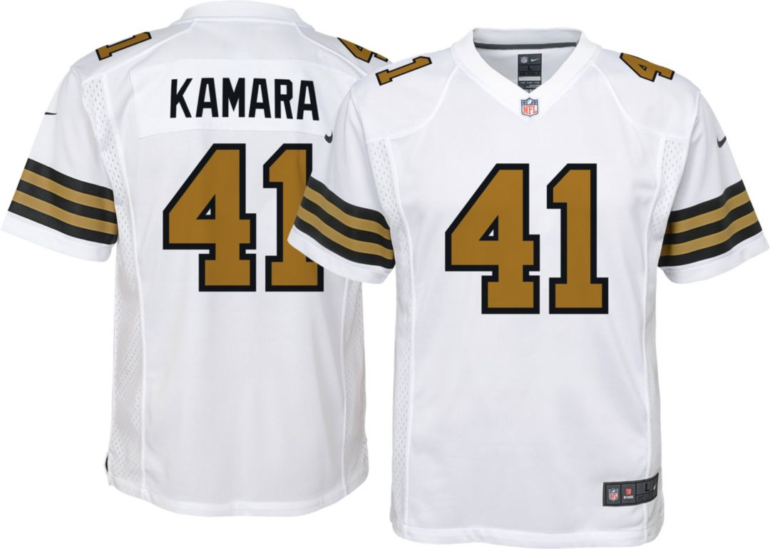 hot sale online 2c328 9238f Nike Youth Color Rush Game Jersey New Orleans Saints Alvin Kamara #41