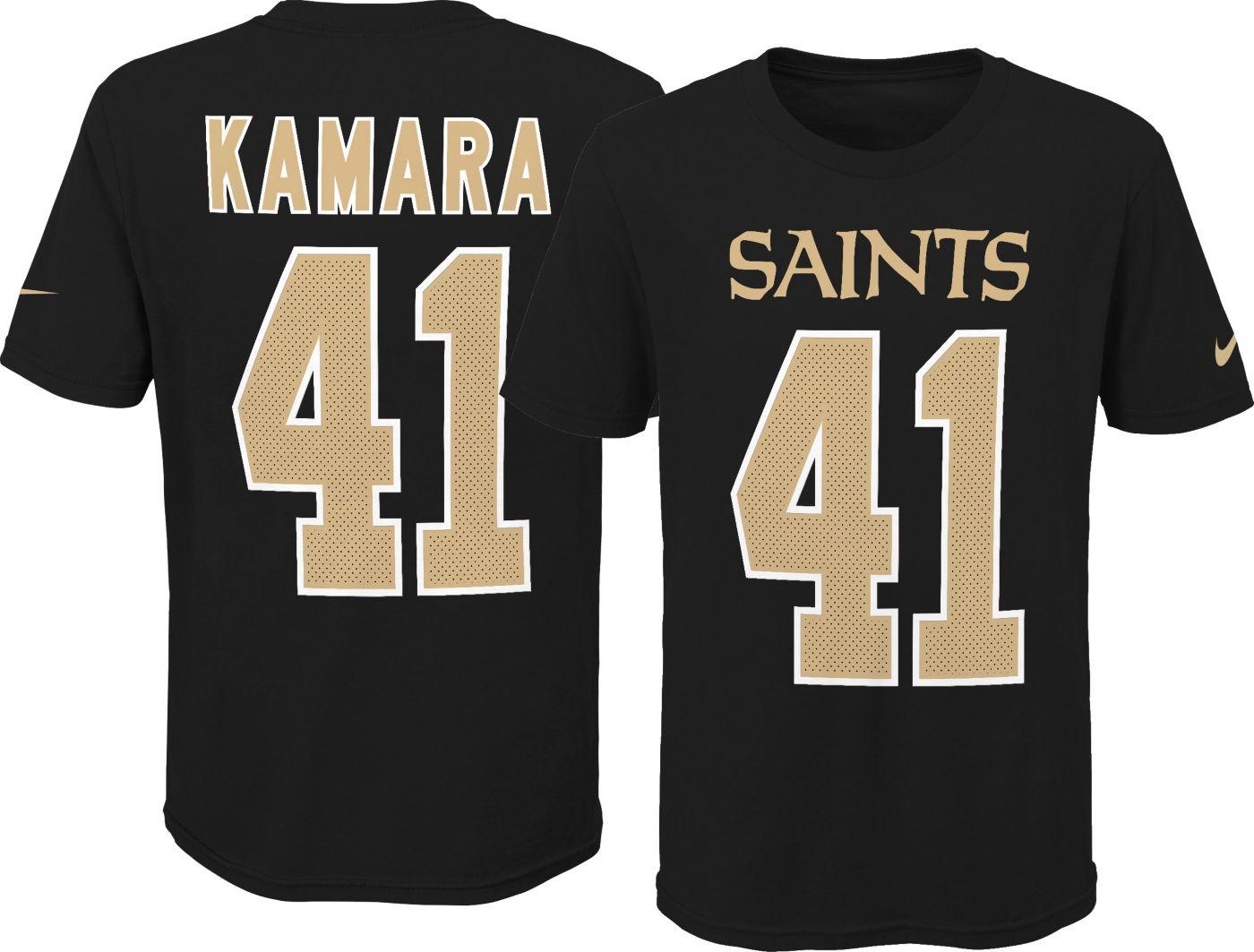 Nike Youth New Orleans Saints Alvin Kamara #41 Pride Black T-Shirt