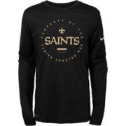 Nike Youth New Orleans Saints Property Of Long Sleeve Black Shirt