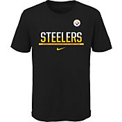 Nike Youth Pittsburgh Steelers Team Practice Black T-Shirt