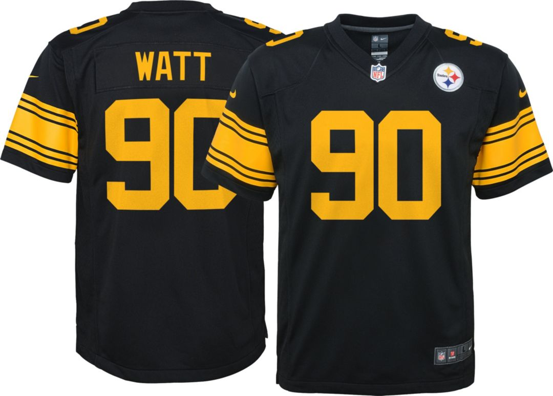 new product 48240 73656 Nike Youth Color Rush Game Jersey Pittsburgh Steelers T.J. Watt #90