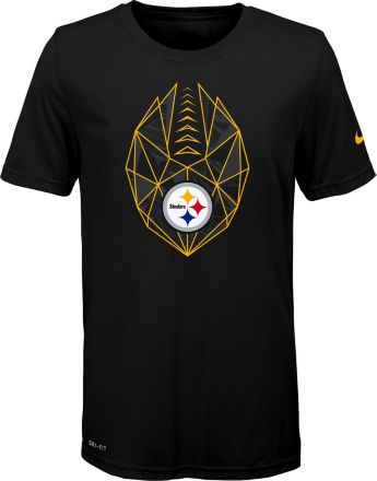 e2bdcec88 Nike Youth Pittsburgh Steelers Icon Performance Black T-Shirt