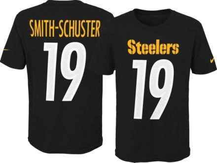 ab6f01261 Nike Youth Pittsburgh Steelers JuJu Smith-Schuster #19 Pride Black T-Shirt