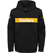 Nike Youth Pittsburgh Steelers Sideline Therma-FIT Black Pullover Hoodie