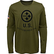Product Image · Nike Youth Salute to Service Pittsburgh Steelers Legend  Long Sleeve Olive Shirt a1d320c79