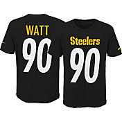 Nike Youth Pittsburgh Steelers T.J. Watt #90 Pride Black Player T-Shirt