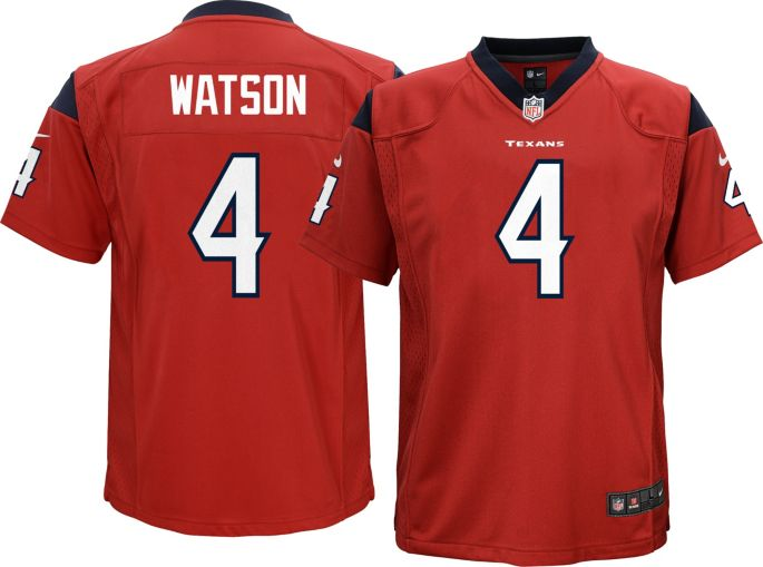 784e3766 Nike Youth Alternate Game Jersey Houston Texans Deshaun Watson #4