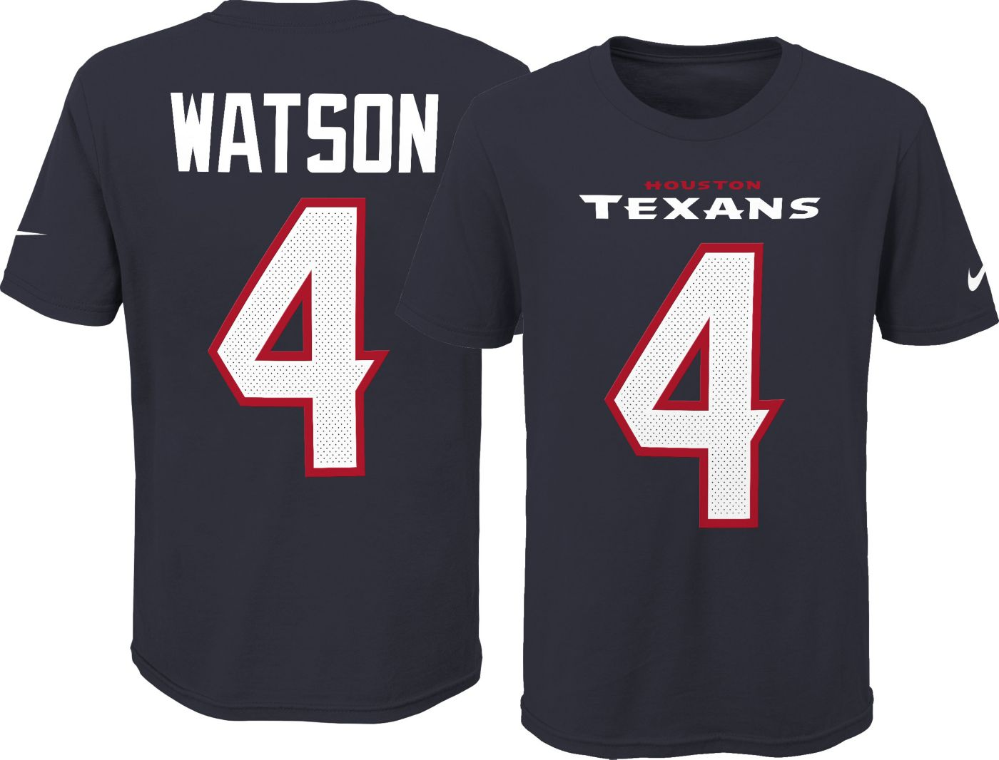 Nike Youth Houston Texans Deshaun Watson #4 Pride Navy Player T-Shirt