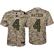 Nike Youth Salute to Service Houston Texans Deshaun Watson #4 Camouflage Home Game Jersey