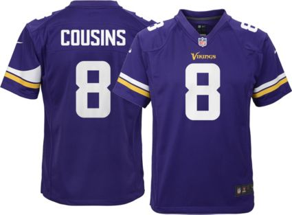 20457f1d9 Nike Youth Home Game Jersey Minnesota Vikings Kirk Cousins  8 ...