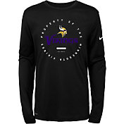 Nike Youth Minnesota Vikings Property Of Long Sleeve Black Shirt