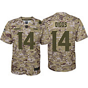 Nike Youth Salute to Service Minnesota Vikings Stefon Diggs #14 Camouflage Home Game Jersey