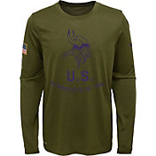 Nike Youth Salute to Service Minnesota Vikings Legend Long Sleeve Olive Shirt