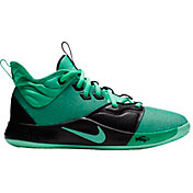 78bc105d928a16 Product Image · Nike Kids  Grade School PG 3 Basketball Shoes. Emerald Black