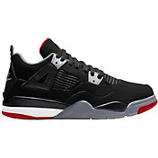promo code b1cc3 63b9e Product Image · Jordan Kids  Preschool Air Jordan 4 Retro Basketball Shoes  · Black Red Grey