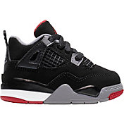 c86eac29fc90 Product Image · Jordan Toddler Air Jordan 4 Retro Basketball Shoes · Black  Red Grey