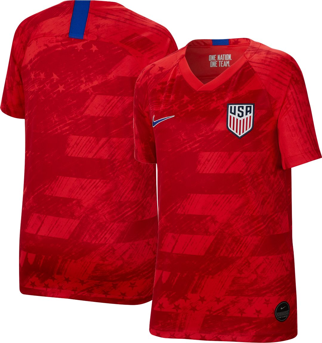 huge selection of a6ee5 65b04 Nike Youth USA Soccer '19 Breathe Stadium Away Replica Jersey