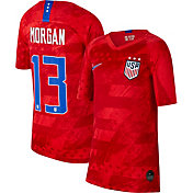 Nike Youth 2019 FIFA Women's World Cup USA Soccer Alex Morgan #13 Breathe Stadium Away Replica Jersey