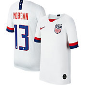 Nike Youth 2019 FIFA Women's World Cup USA Soccer Alex Morgan #13 Breathe Stadium Home Replica Jersey