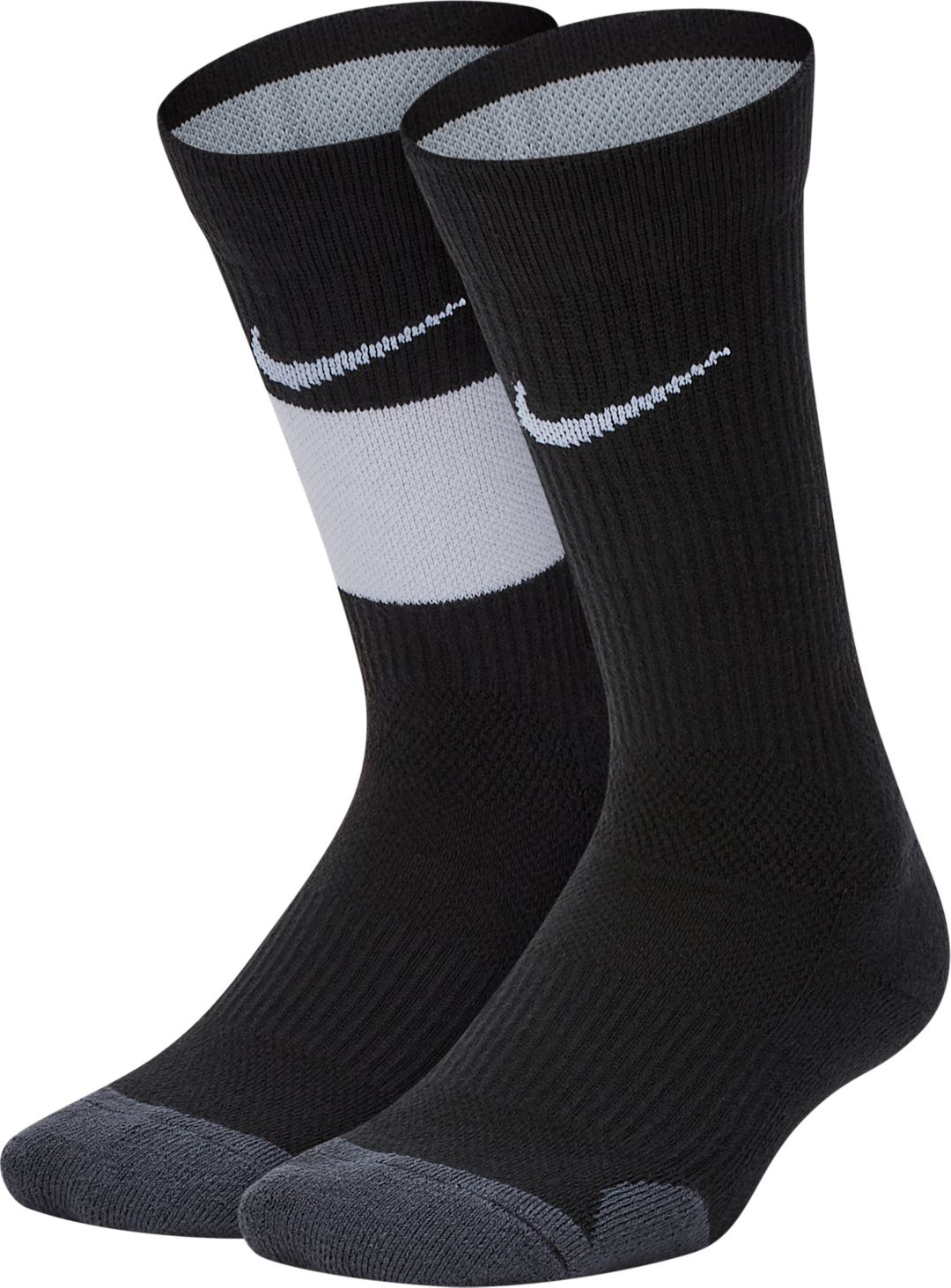 reputable site 60f5a d4a5d Nike Youth Elite Basketball Crew Socks 2 Pack 1