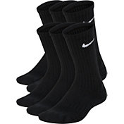 Nike Kids' Performance Cushioned Crew Training Socks- 6 Pack