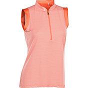 Nancy Lopez Women's Geo Sleeveless Golf Polo - Plus Size