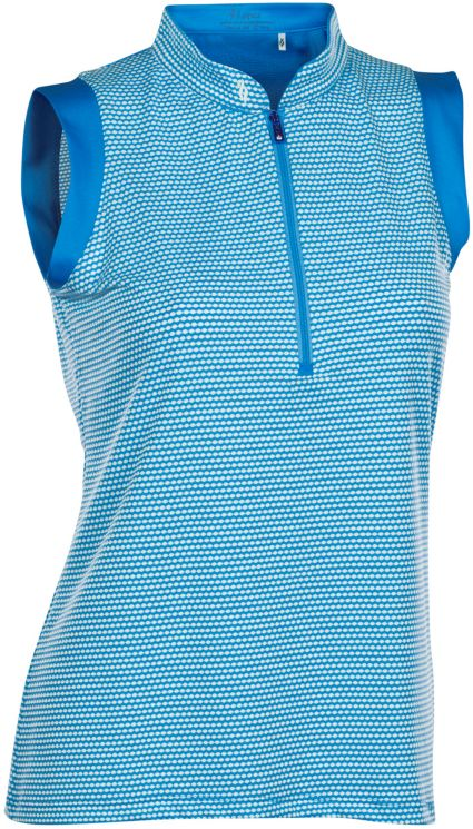 Nancy Lopez Women's Geo Sleeveless Golf Polo