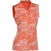 Nancy Lopez Women's Palmy Sleeveless Golf Polo - Plus Size