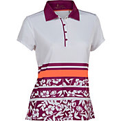 Nancy Lopez Women's Pretty Short Sleeve Golf Polo - Plus Size