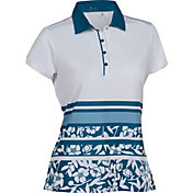 Nancy Lopez Women's Pretty Short Sleeve Golf Polo