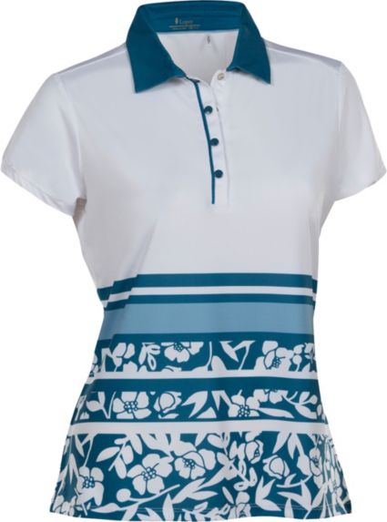 Nancy Lopez Women's Pretty Short Sleeve Golf Polo