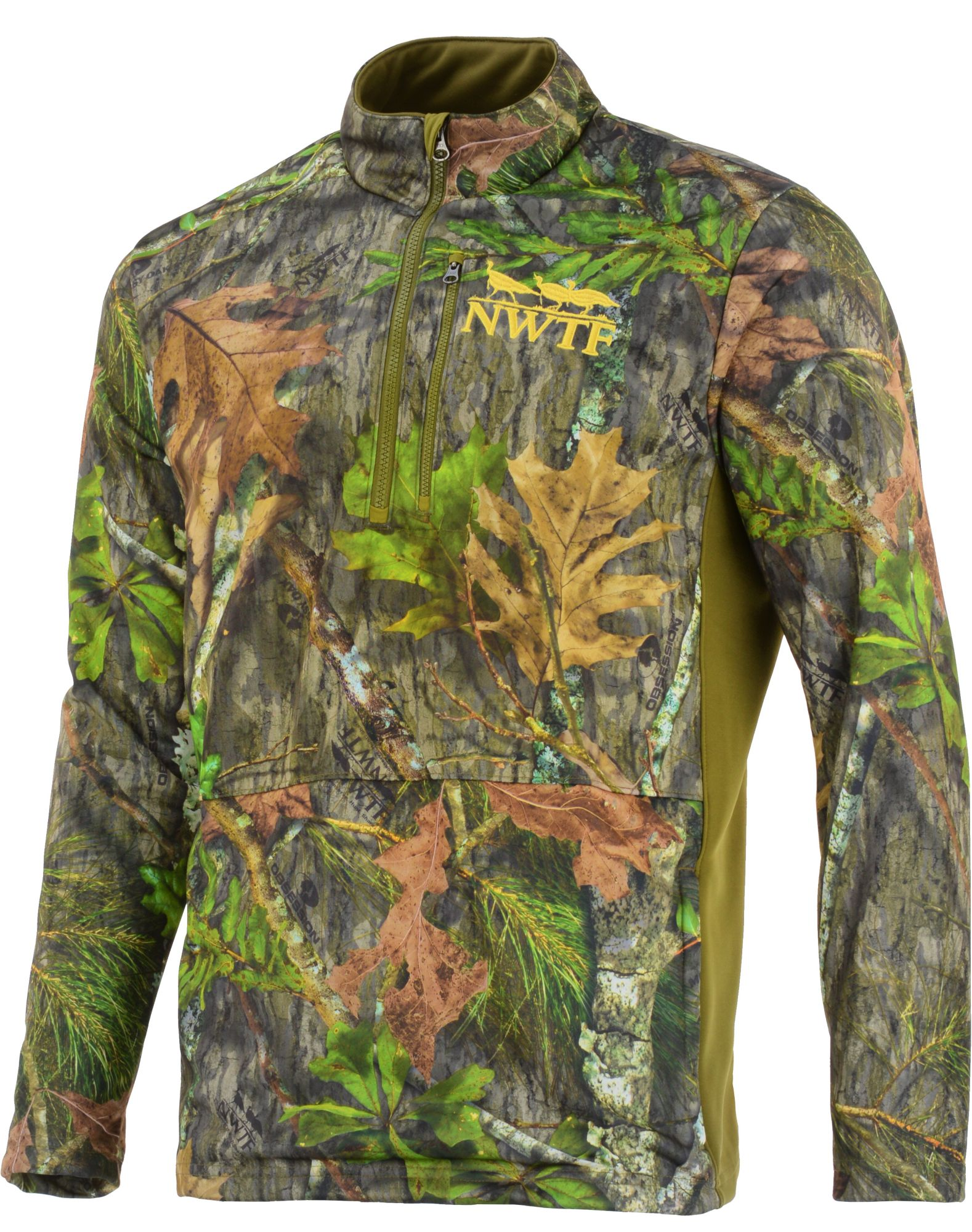 Nomad Men's Nwtf 1/4 Zip Fleece Hunting Jacket, Size: XL, Brown thumbnail