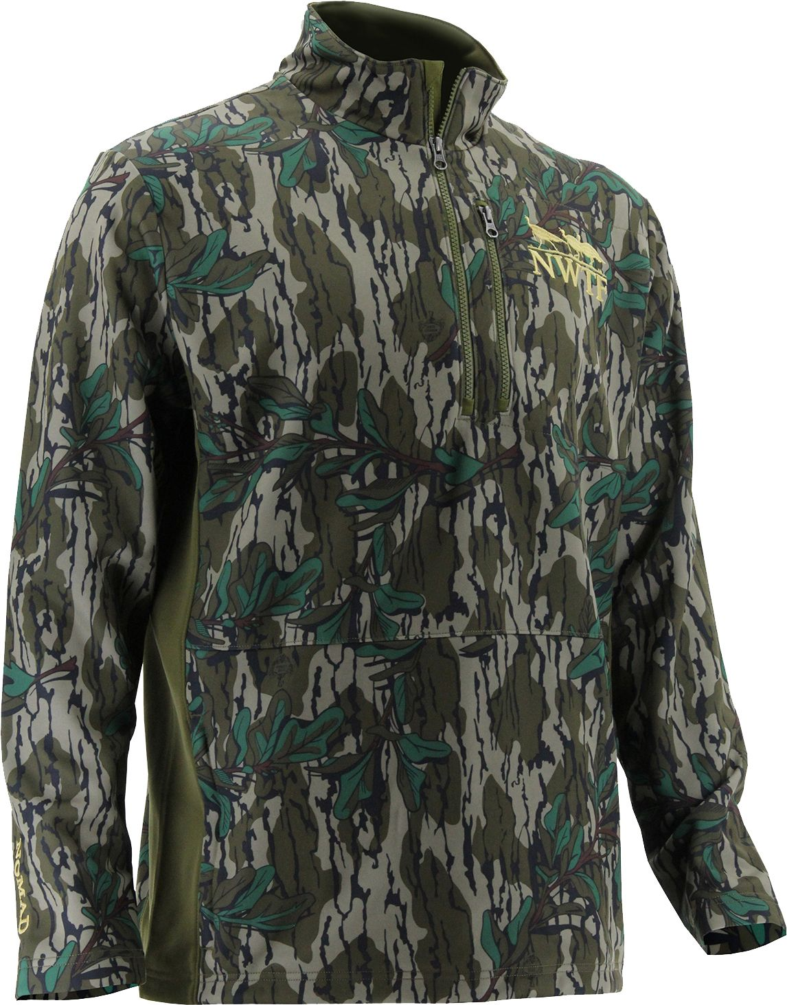 Nomad Men's Nwtf 1/4 Zip Fleece Hunting Jacket, Size: Medium, Mossy Oak Greenleaf thumbnail