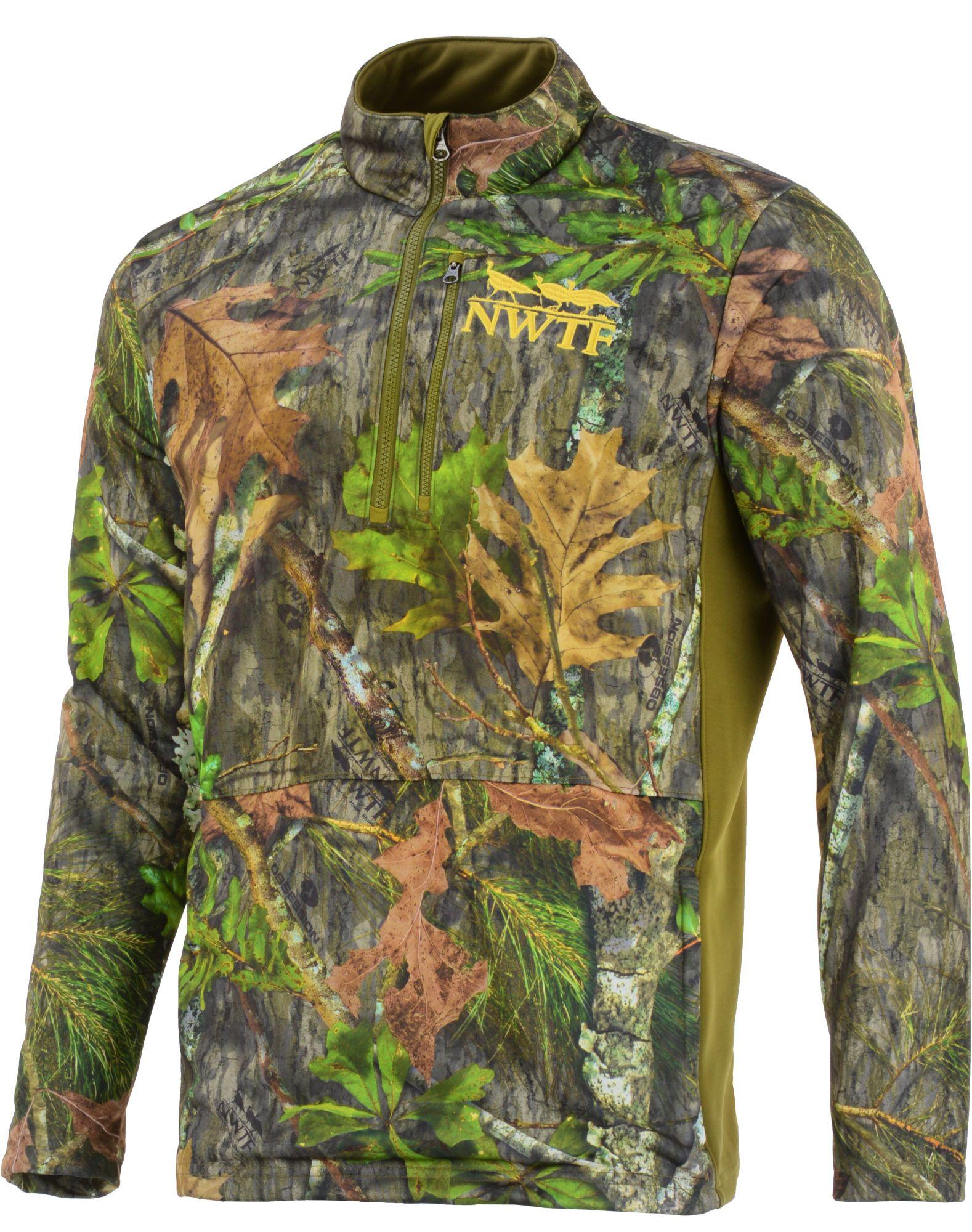 Nomad Men's Nwtf 1/4 Zip Fleece Hunting Jacket, Size: Medium, Green thumbnail